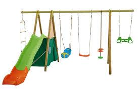 siège balançoire bébé portique métal bois trapèze anneaux à balançoire