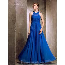 long floor length chiffon bridesmaid dress royal blue apple