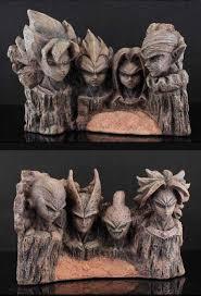 dragonball 8 u2033 goku vegeta trunks vs broly cell freeza resin statue