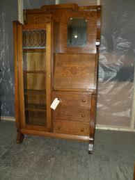 Drop Front Secretary Desk by Antique Oak Drop Front Secretary Desk Side By Side Bookcase