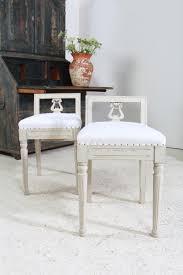 Swedish Painted Furniture Pair Of Swedish Painted Gustavian Style Stools Interior