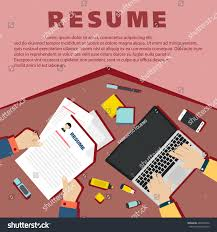 Job Interview Resume by Job Interview Concept Business Resume On Stock Vector 446531854
