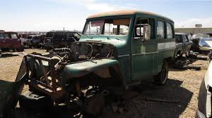willys jeep truck interior junkyard treasure 1956 willys jeep station wagon autoweek