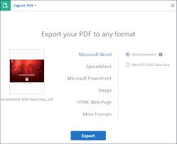 How To Convert Pdf File Into Excel Spreadsheet Convert Or Export Pdfs To Other File Formats Adobe Acrobat