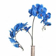 Blue Orchid Flower - indigo 10pcs plastic blue orchid flower real touch phalaenopsis