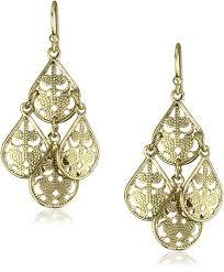 teardrop chandelier earrings 1928 jewelry brass filigree teardrop chandelier