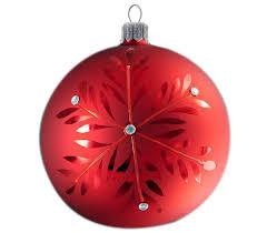 snowflake large handmade glass ornament