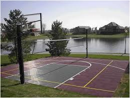 backyard basketball half court cost home outdoor decoration