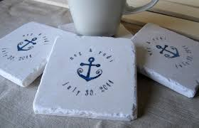 wedding coasters favors anchor wedding favor coasters set mylittlechick etsy diy wedding