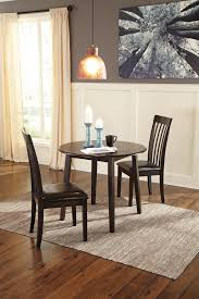 ashley signature design hammis 3 piece round drop leaf table set