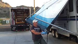 rv awning fabric removal part 1 donald mcadams youtube