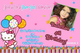hello kitty birthday invitation partyexpressinvitations