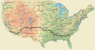 Maps Route by Cross Country Bike Route Map United States U2022 Mappery