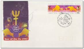 year of the ox 1997 christmas island 1997 year of the ox sts of the world
