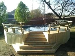 Above Ground Pool Ideas Backyard Deck On The Ground Gorgeous Above Ground Pool Ideas With Decks