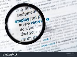 dictionary definitions meaning word employ stock photo