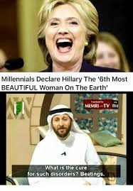 Beautiful Woman Meme - millennials declare hillary the 6th most beautiful woman on the