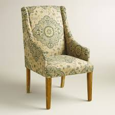 retro brown fabric padded wing back chair of fashionable padded
