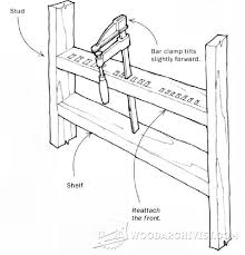 Storage Shelf Woodworking Plans by 119 Best Clamps Storage Images On Pinterest Workshop Ideas