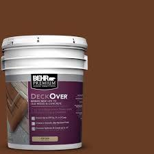 behr premium deckover 5 gal sc 110 chestnut wood and concrete