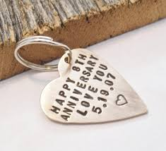 8th wedding anniversary gifts for him annivesary keychain for 8 year anniversary for husband 8th