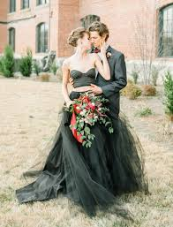 black wedding dress moody autumn wedding inspiration with a black wedding dress