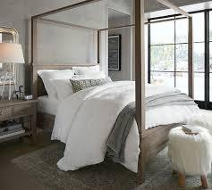 farmhouse canopy bed u0026 dresser set pottery barn