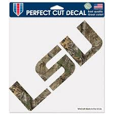 lsu alumni sticker lsu tigers realtree camouflage logo cut decal