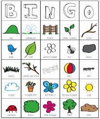 halloween printable bingo outside bingo printable inspired by the garden classroom kid
