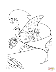 skate fish coloring page free printable coloring pages