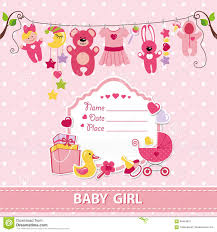 Baby Shower Invitation Cards Baby Shower Invitation Card Stock Vector Image 51175803