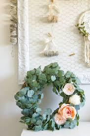 eucalyptus wreath farmhouse home how to make your own diy eucalyptus wreath