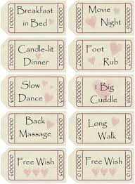 printable romantic gift certificates free printable love coupons