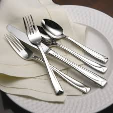 oneida linden 45pc flatware set