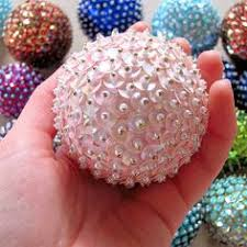 all you need are styrofoam balls sequins and pins to make these