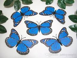 wingspan 4 7 inch blue monarch viceroy artificial 3d butterfly