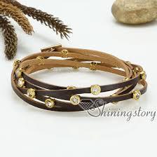 rhinestone leather wrap bracelet images Genuine leather wrap bracelets crystal rhinestone bracelet jpg