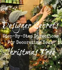 decorating christmas tree how to step by step designer s christmas tree decorating