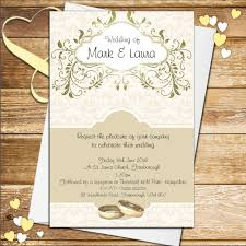 gold wedding invitations 10 personalised gold wedding invitations n56