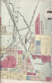 Mansfield Ohio Map by 1873 Plat Book Mansfield