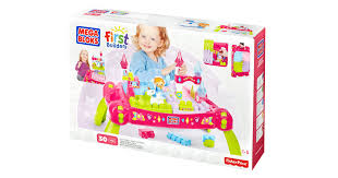 mega bloks first builders table mega bloks lil princess play n go fairytale table best educational