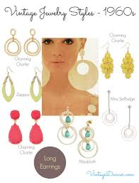 1960 s earrings 1960s jewelry styles and trends to wear