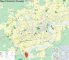 Travel Time Map Maps Of Shanghai China Streets Metro Lines Attractions City Layout