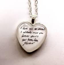 custom handwriting necklace etsy shop thechameleonsoul special keepsake memories custom