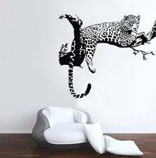 animal wild zoo leopards cheetahs tail wall decal sticker living suitable any clean smooth wall tiles windows metal closet plastic