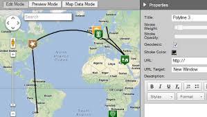 draw routes or polylines imapbuilder online