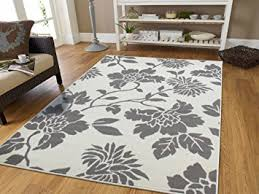 5 X7 Area Rug Contemporary Leaves Design Modern Area Rug 5x8 Leaf