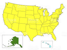 map of us without names usa color map without state name stock photo 487207693 istock