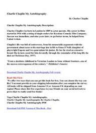 charlie chaplin my autobiography pdf drive