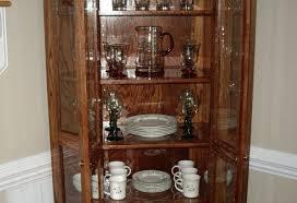 Corner Curio Cabinet Kit Alluring Picture Of Cabinet Finish Restoration Intriguing Cabinet